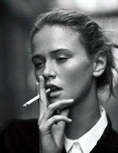潮流时尚黑白肖像摄影