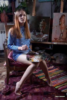 油画人生模特shaya